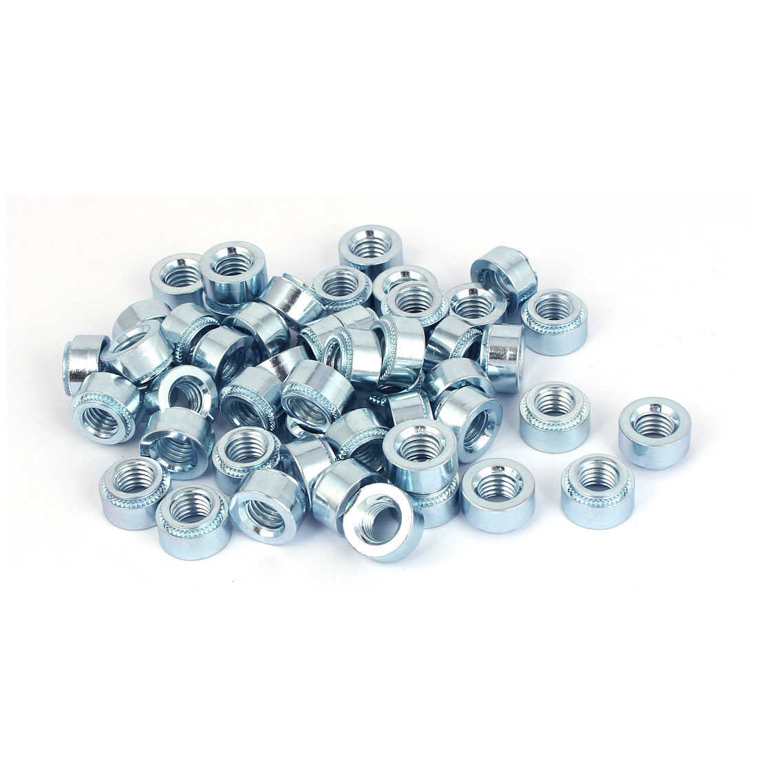 Carbon Steel Self Clinching Nut 10mm Thread Dia 50pcs for 2.3mm Thin Plates