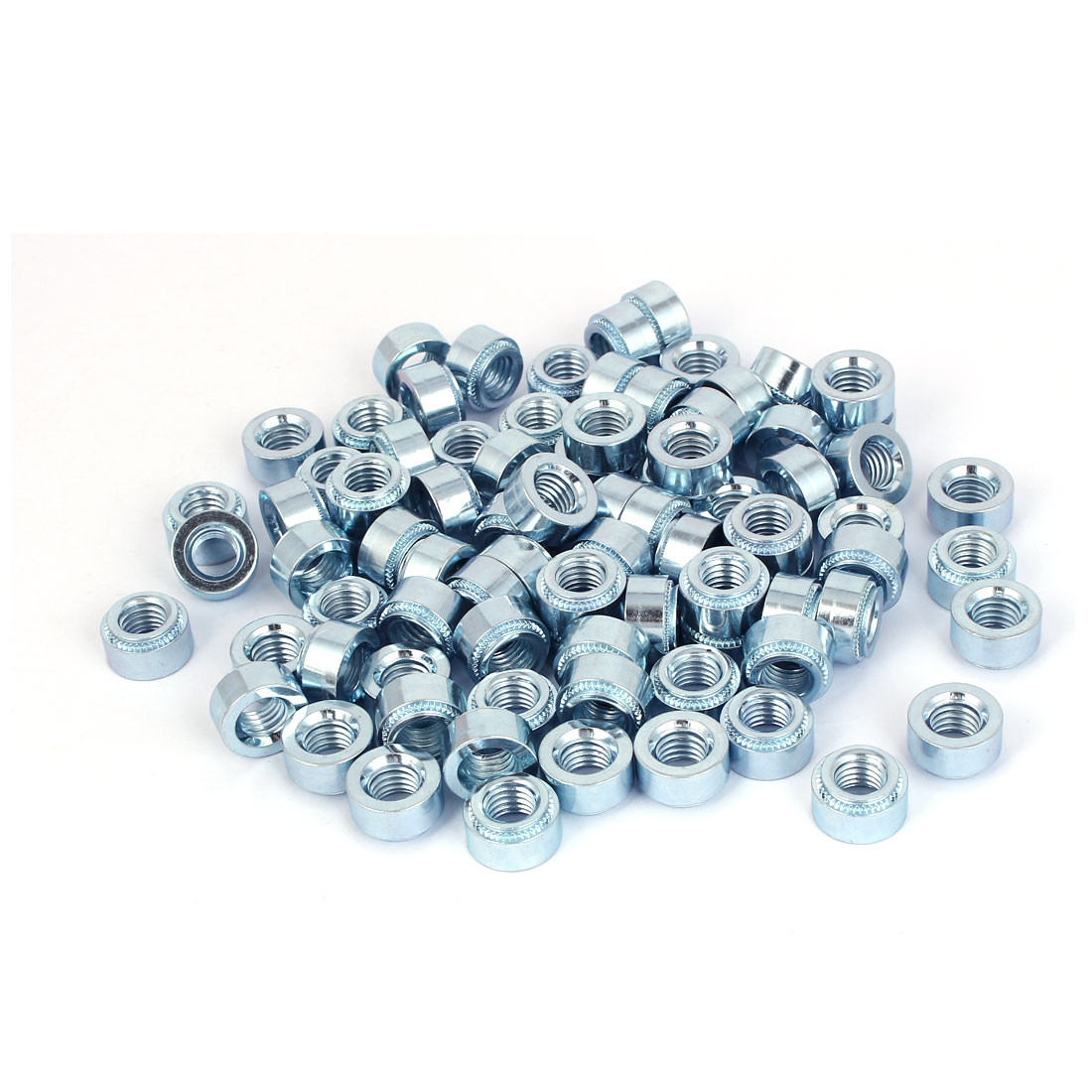 Carbon Steel Self Clinching Nut 10mm Thread Dia 100pcs for 2.3mm Thin Plates