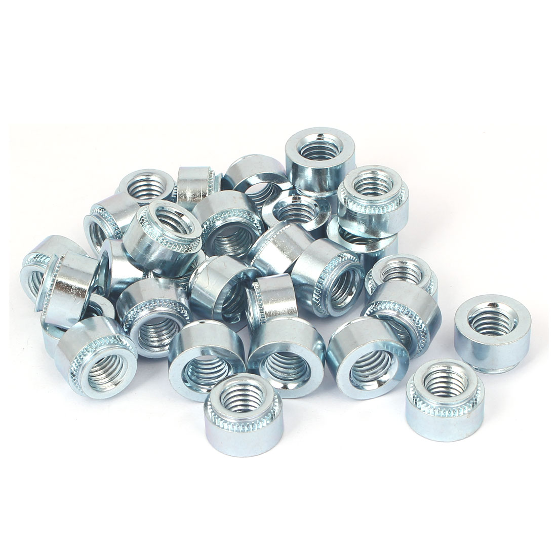 S-M10-2 Carbon Steel Self Clinching Rivet Nut Fastener 30pcs for 3.2mm Thin Plates