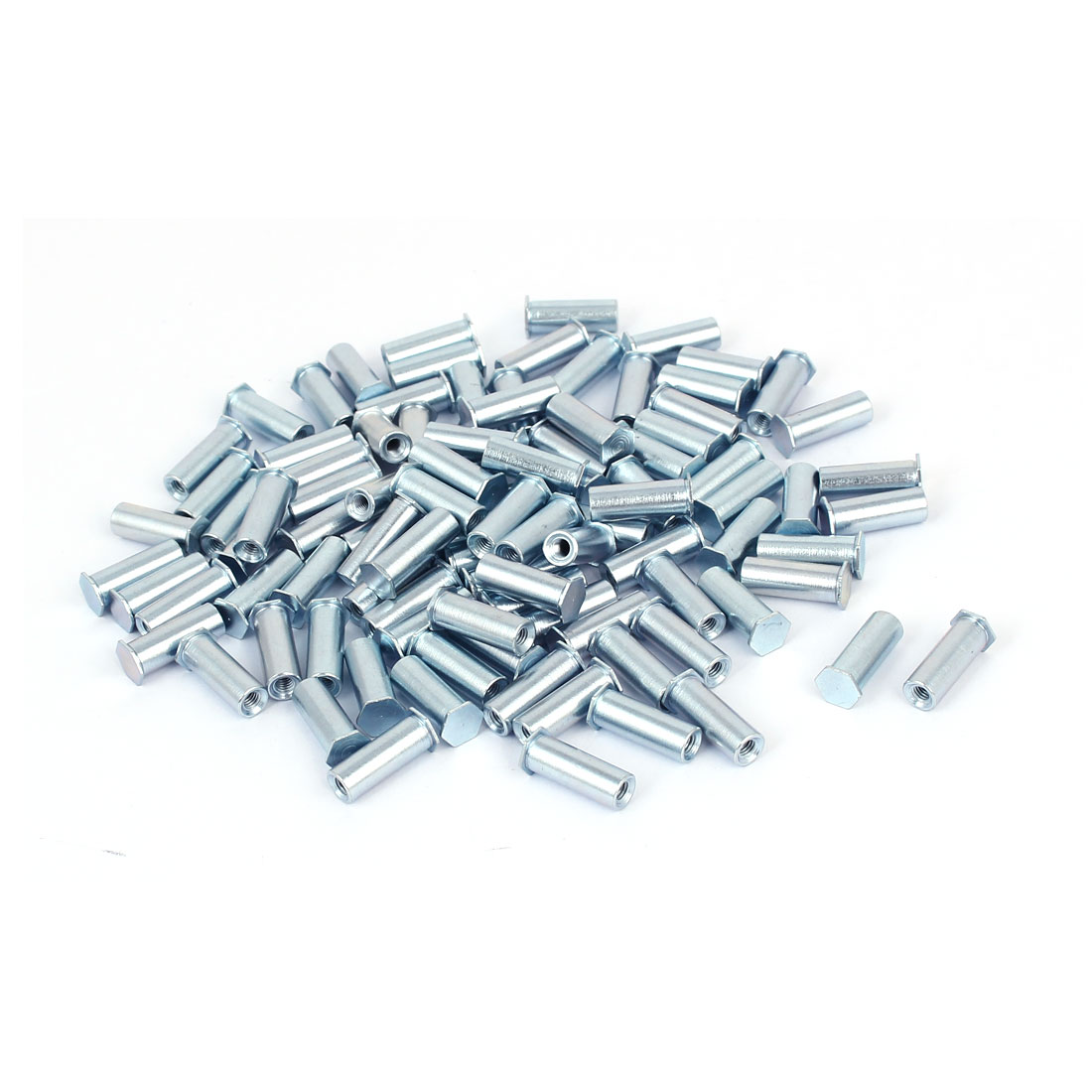 M3x16mm Hex Head Zinc Plated Carbon Steel Blind Self Clinching Standoff 100pcs