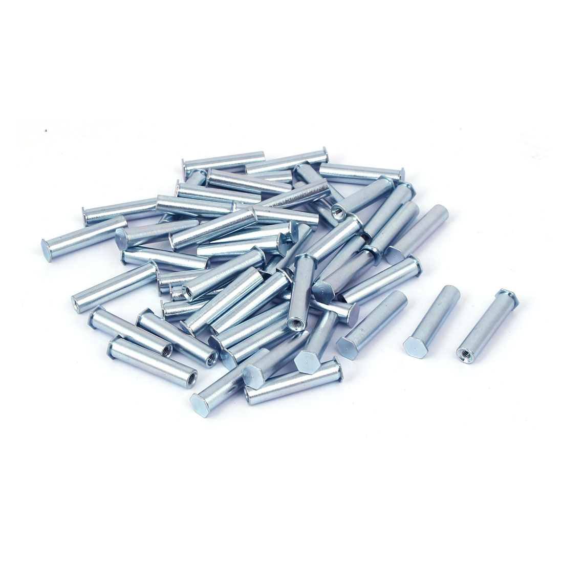 M3 x 25mm Full Thread Hexagon Head Blind Hole Self Clinching Standoffs 50 Pcs