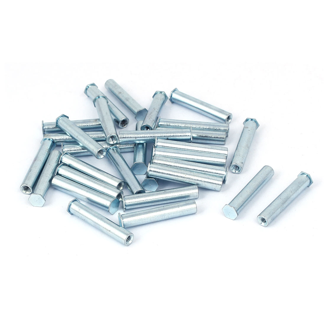 M3 x 30mm Full Thread Hex Head Blind Self Clinching Standoffs 30 Pcs