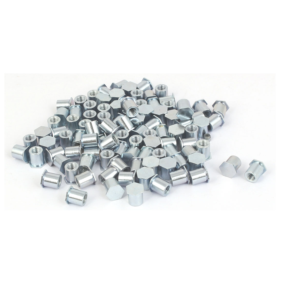 M4x7mm Full Thread Hex Head Carbon Steel Blind Self Clinching Standoffs 100 Pcs