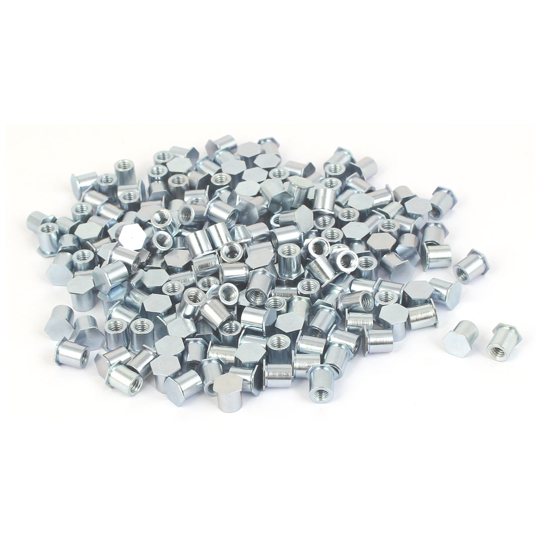 M4 x 7mm Full Thread Hexagon Head Carbon Steel Blind Self Clinching Standoffs 200 Pcs