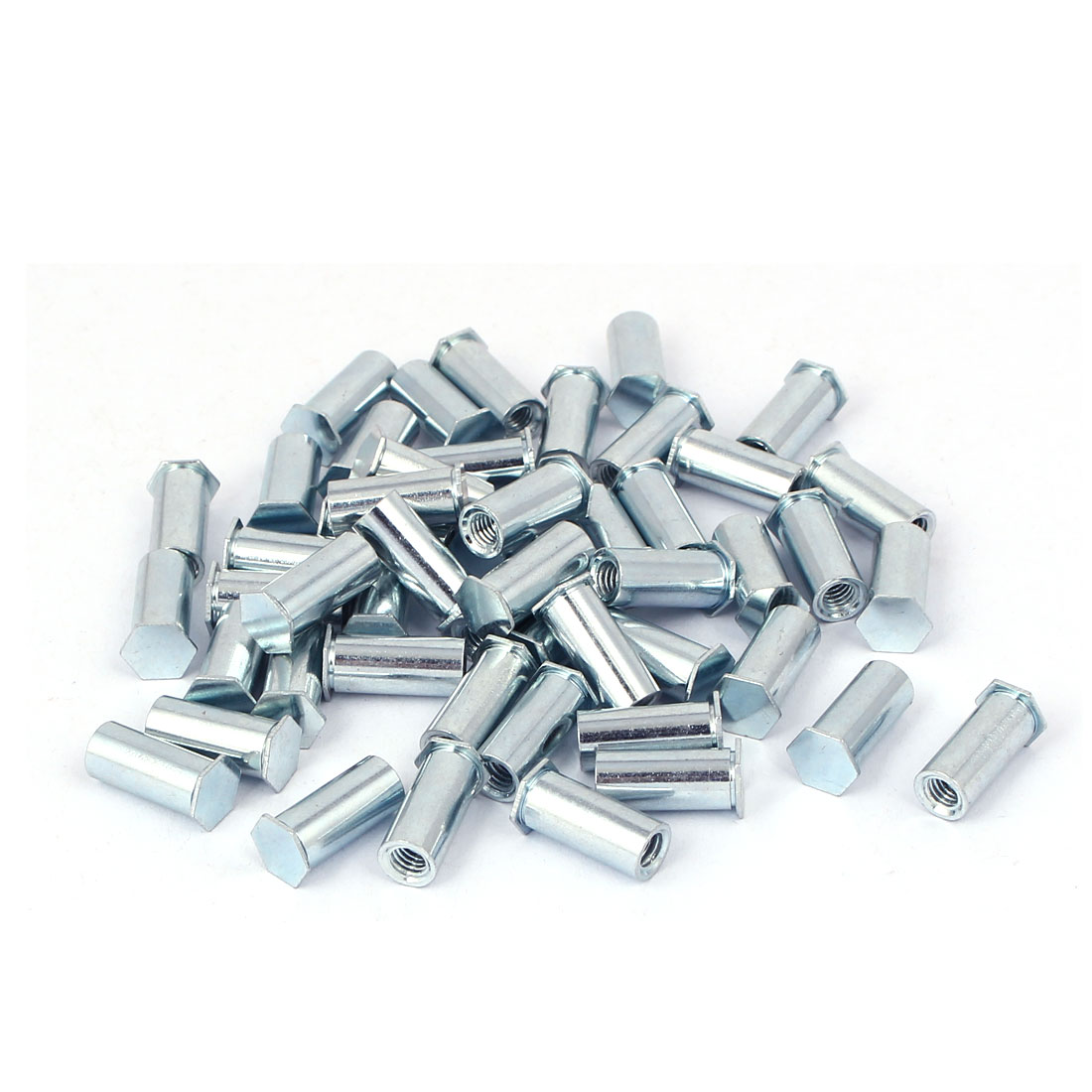 M4 x 14mm Female Thread Hex Head Blind Hole Self Clinching Standoffs 50 Pcs