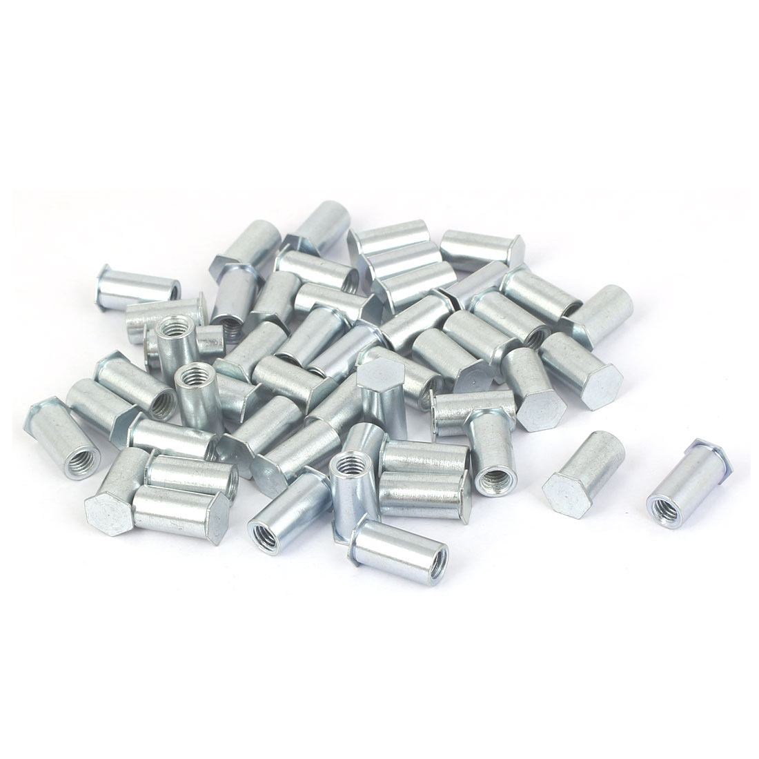 M5 x 14mm Hex Head Zinc Plated Blind Self Clinching Standoffs 50 Pcs