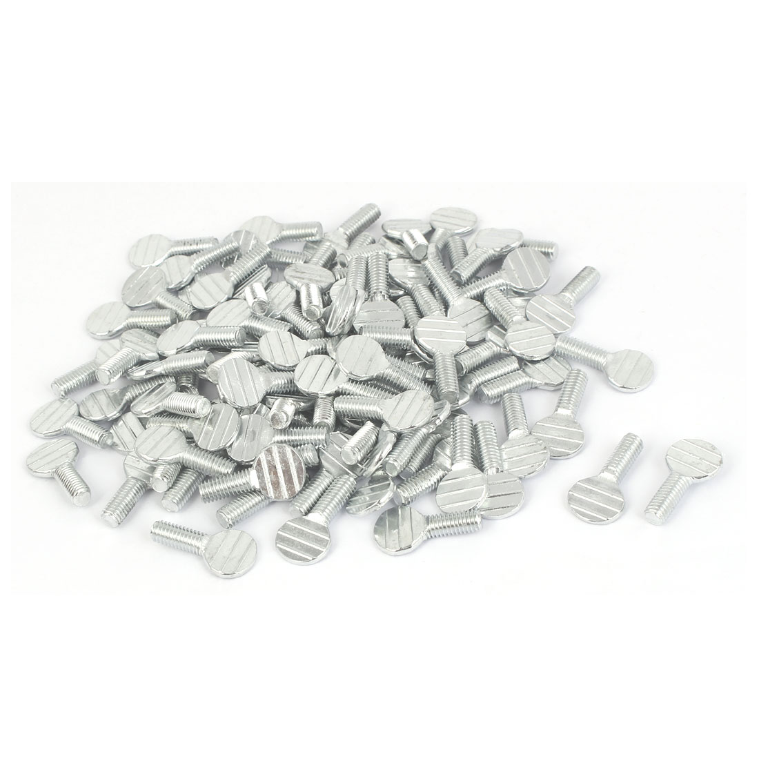 22mm Length M5 x 12mm Machine Threaded Racket Thumb Screws 100 Pcs