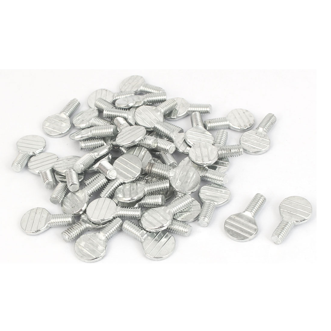 M6 x 12mm Machine Threaded Carbon Steel Racket Thumb Screws 50 Pcs