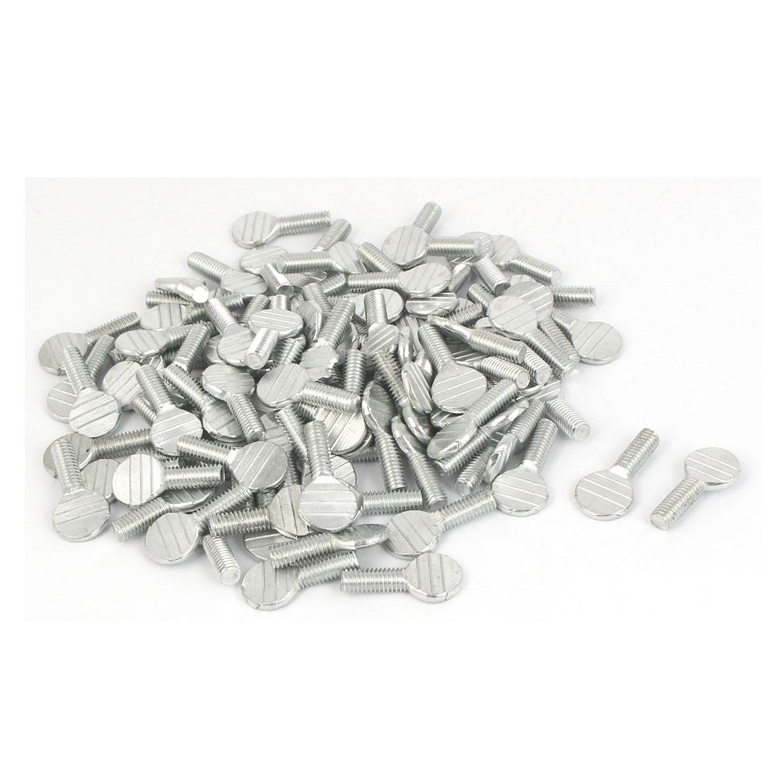 M6 x 16mm Male Thread Carbon Steel Fingertight Thumb Screws 100 Pcs