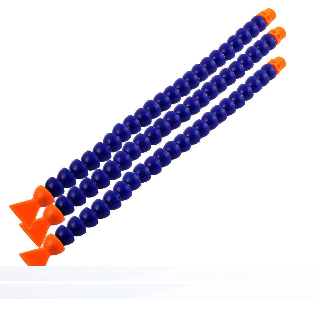 3 Pcs 30cm Length Flexible Flat Spout Cooling Oil Tube Pipe Blue