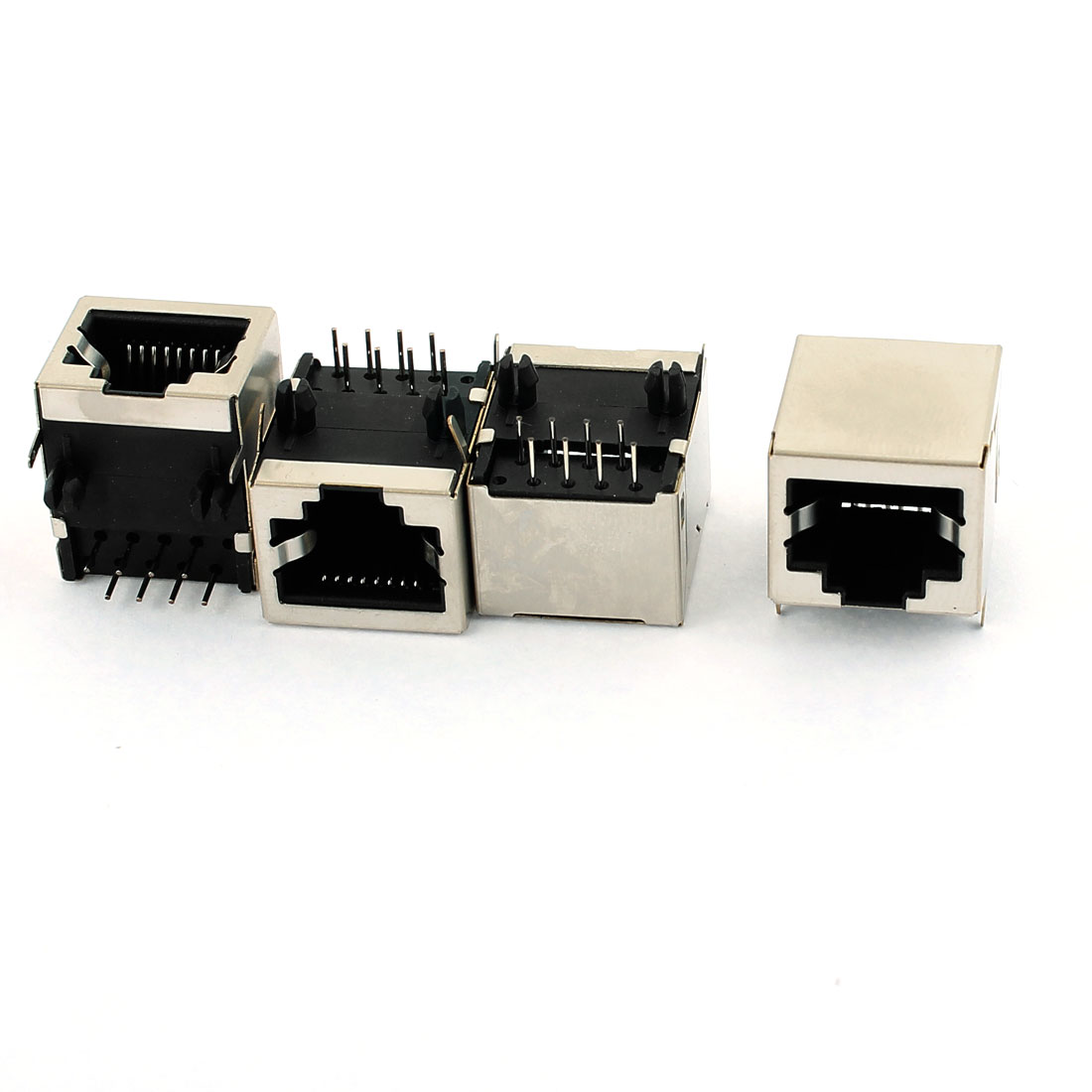 4 Pcs PCB Mount 8P8C Female Network Module Connector Socket Jacks