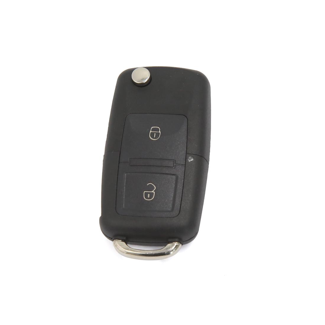 2 Button Uncut Blade Floding Flip Remote Key Case Shell Fob for VW Bora Golf MK4