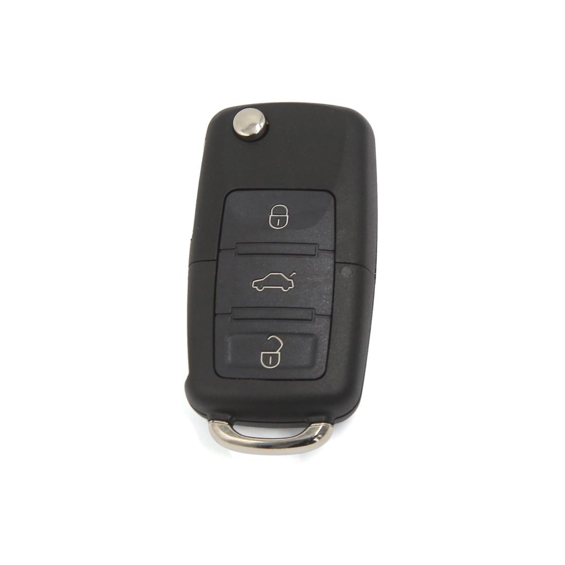 Car 3 Button Folding Flip Remote Key Case Shell for VW Golf Jetta Bora Passat
