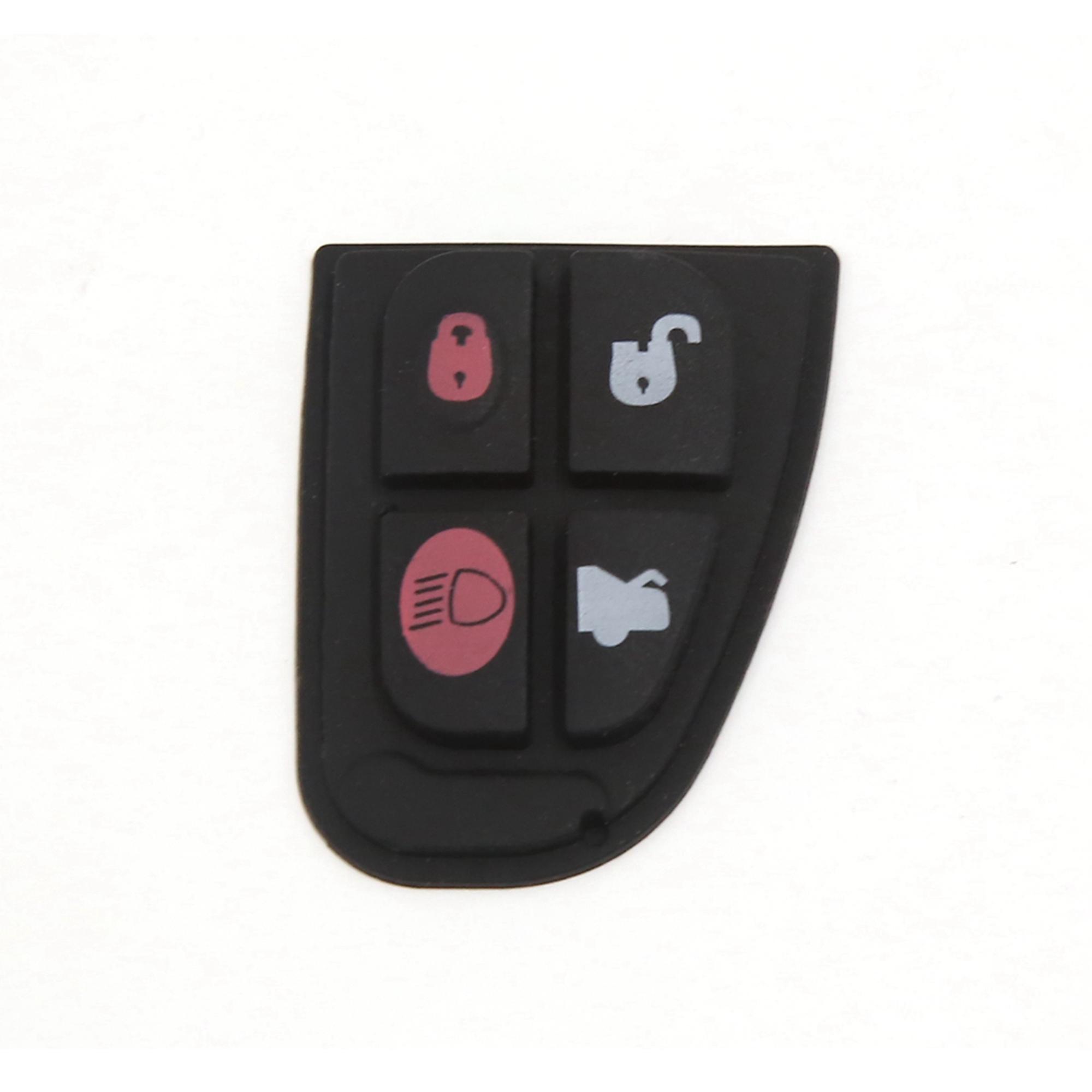 Keyless Remote Key Fob 4 Button Rubber Pad Fits for Jaguar X S XJ XK Type