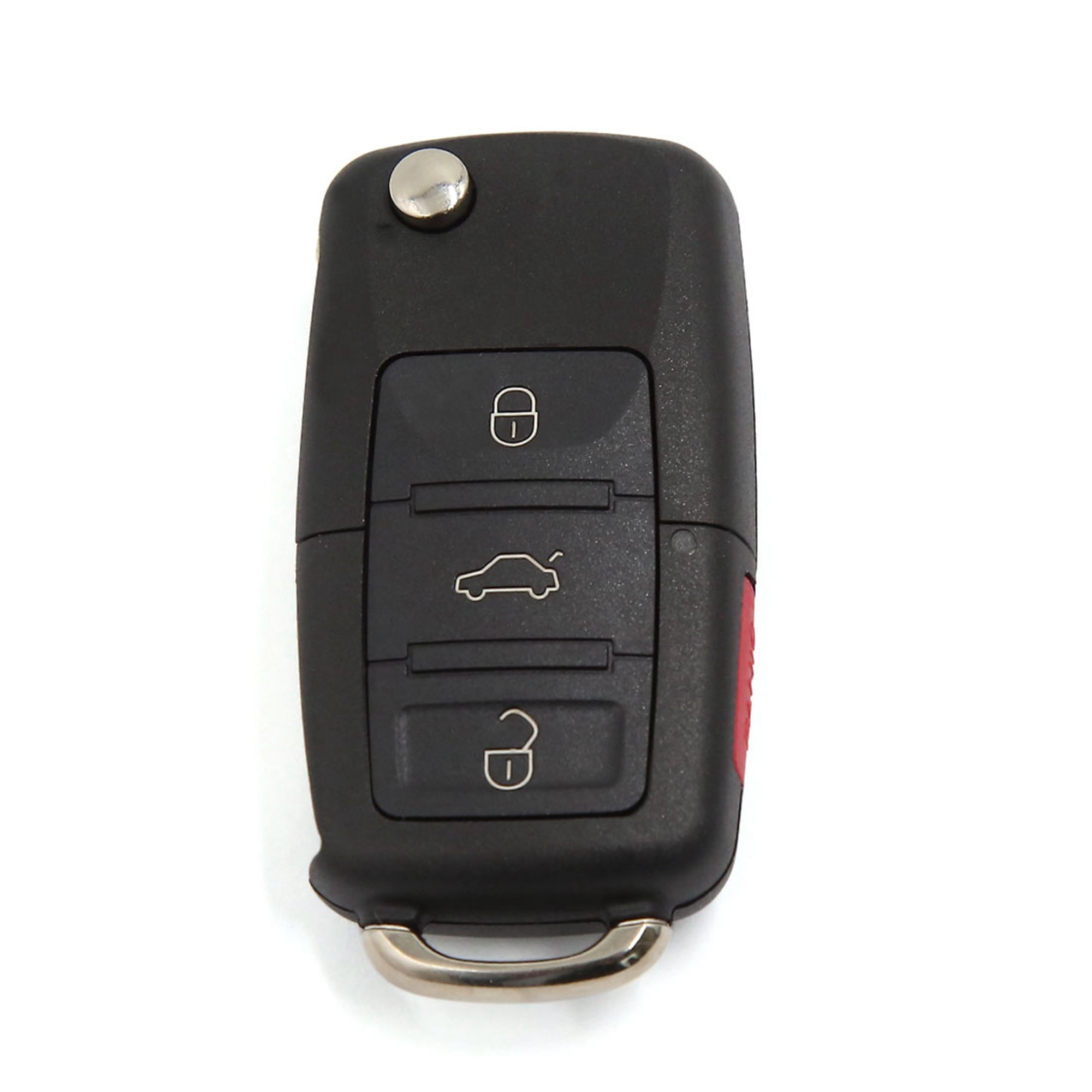 3+1 Buttons Uncut Blade Remote Fob Filp Key Shell Case Fit for VW Passat Jetta