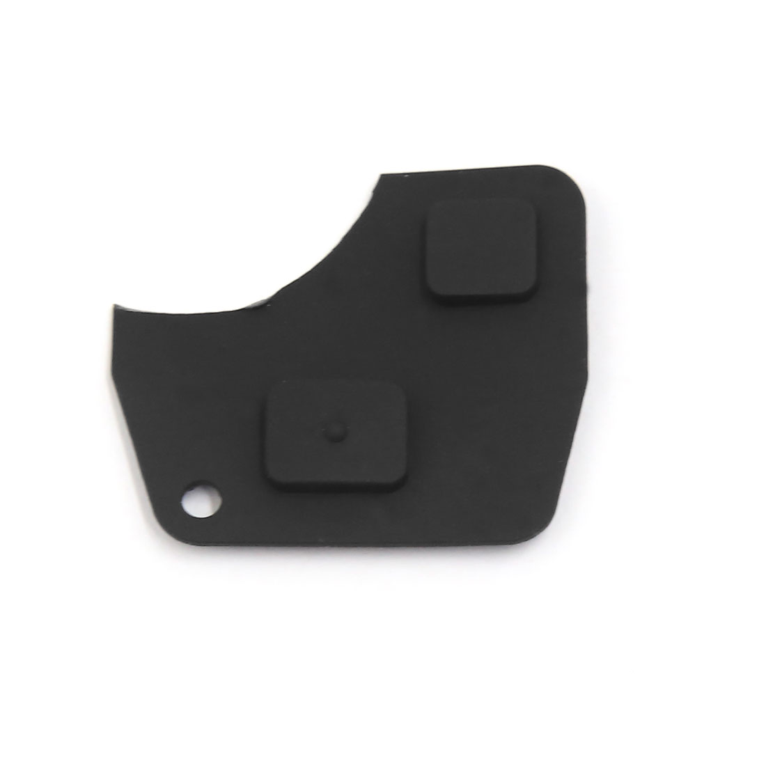 Black 2 Buttons Keyless Entry Remote Key Fob Rubber Button Pad Fit for Toyota
