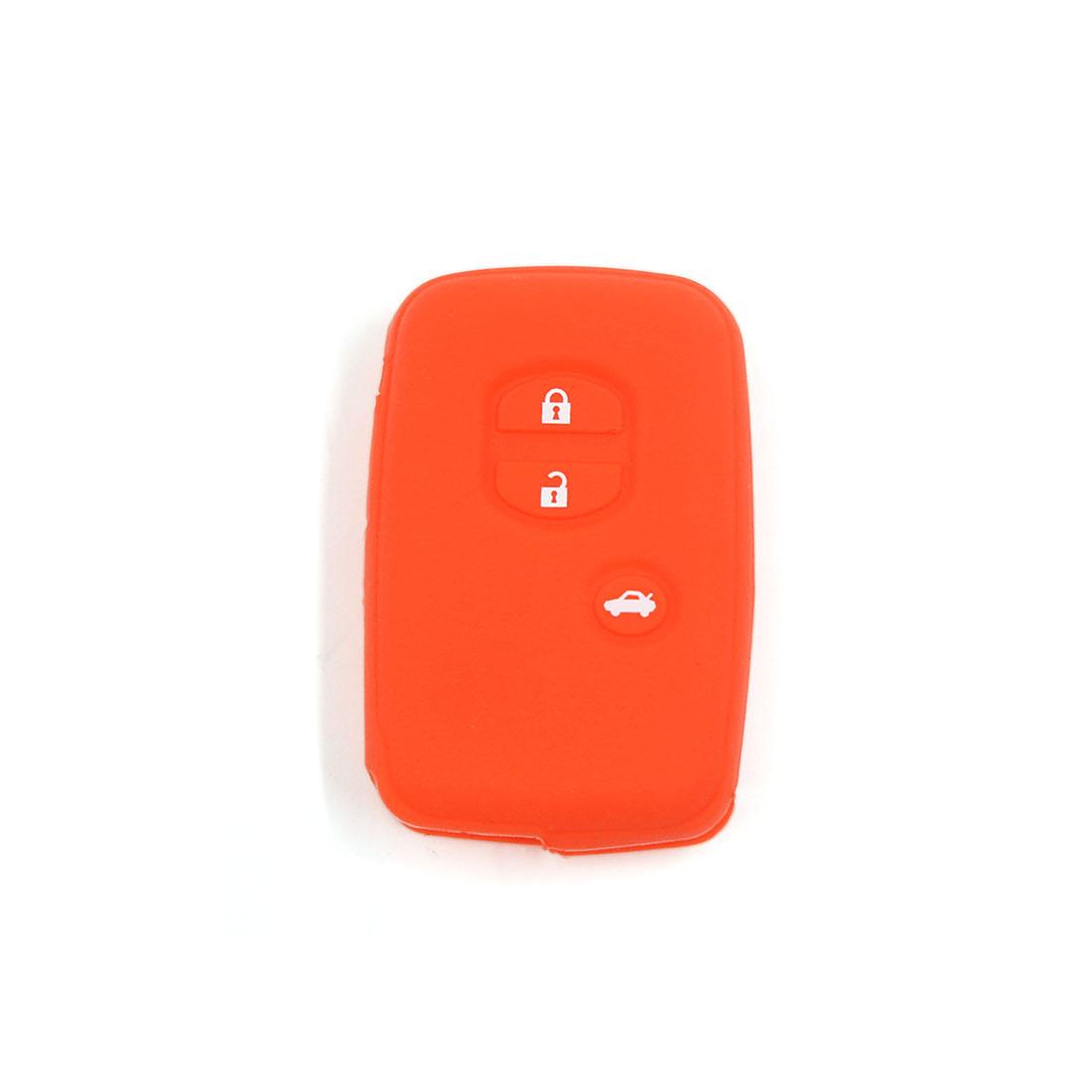 Orange Silicone Car Flip Key Cover Case 3 BT for Toyota Land Cruiser Prado(2010)