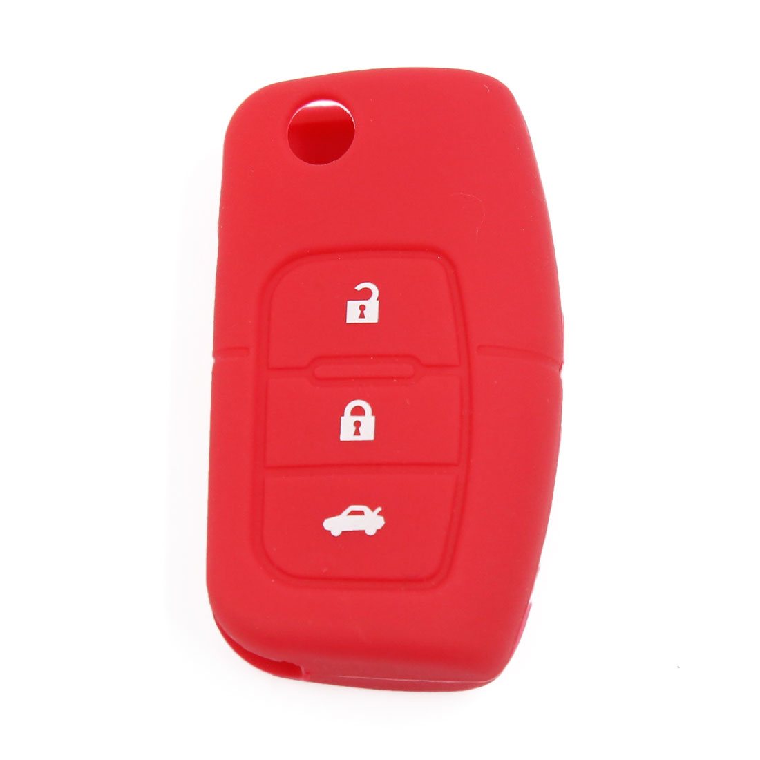 Red Silicone Car Remote Fob Key Holder Case Cover 3 Button for Ford Focus Fiesta