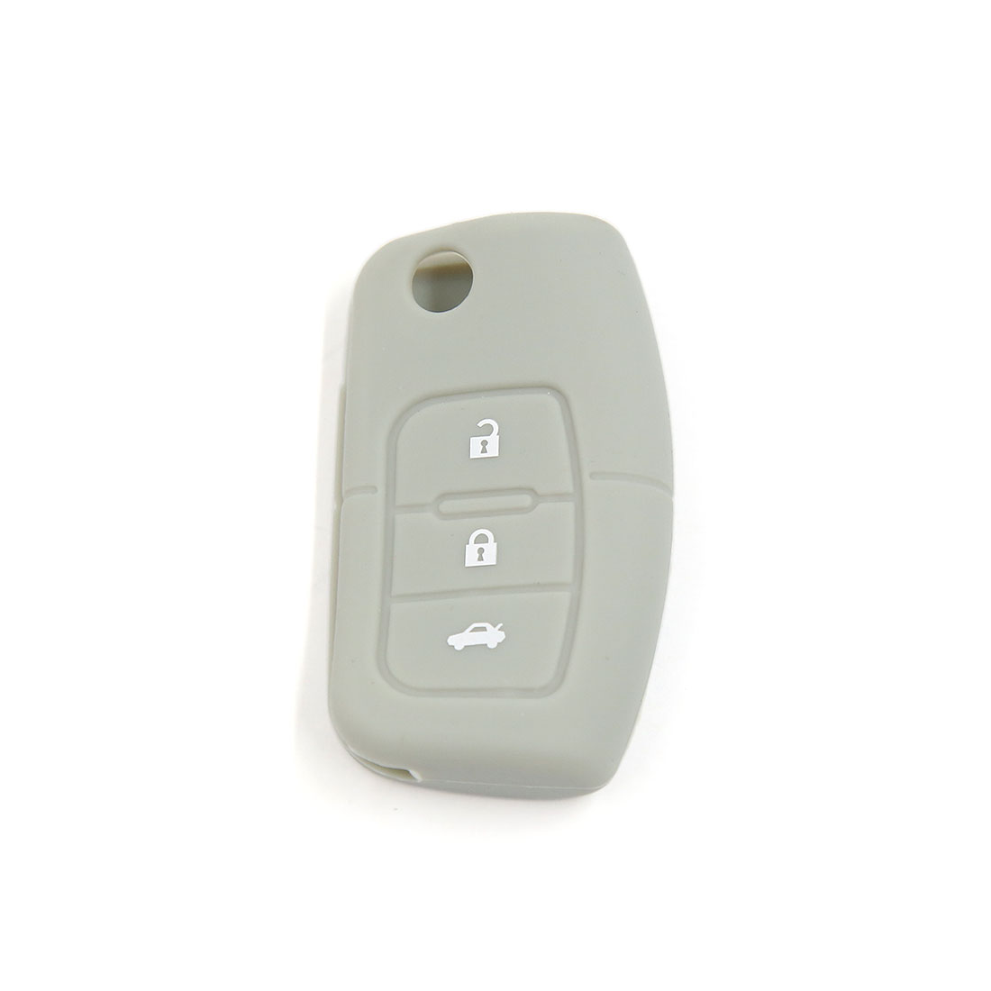 Gray Silicone Cover 3 Button Car Keyless Remote Key Case for Ford Focus Fiesta