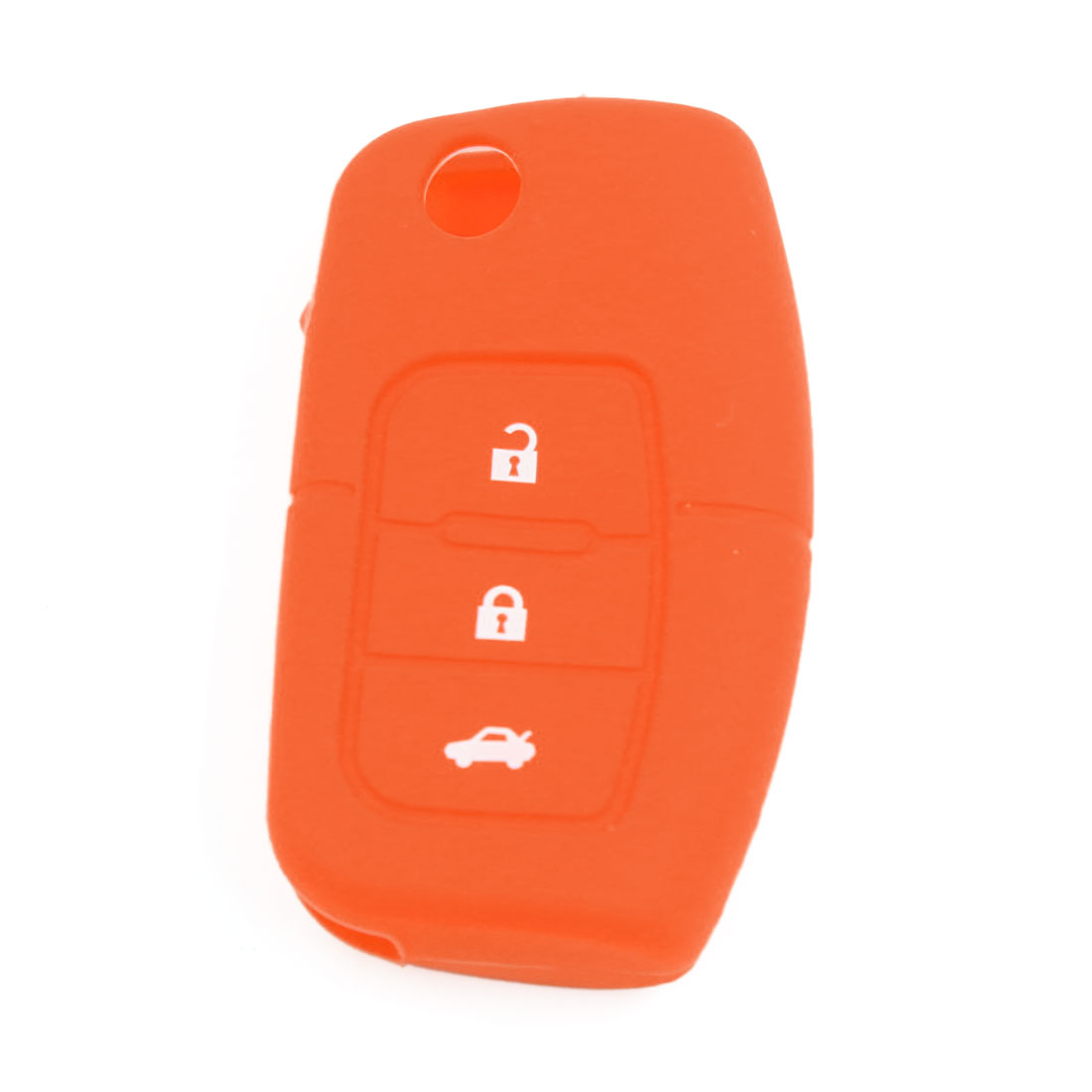 Orange Silicone Shell Remote Key Case Skin Cover Holder for Ford Focus Fiesta