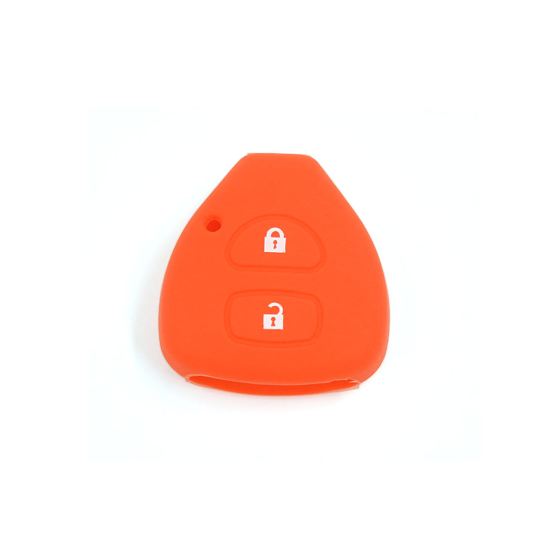 Orange Silicone Keyless Remote Key Fob Case Fits Toyota Yaris Auris 2 Buttons