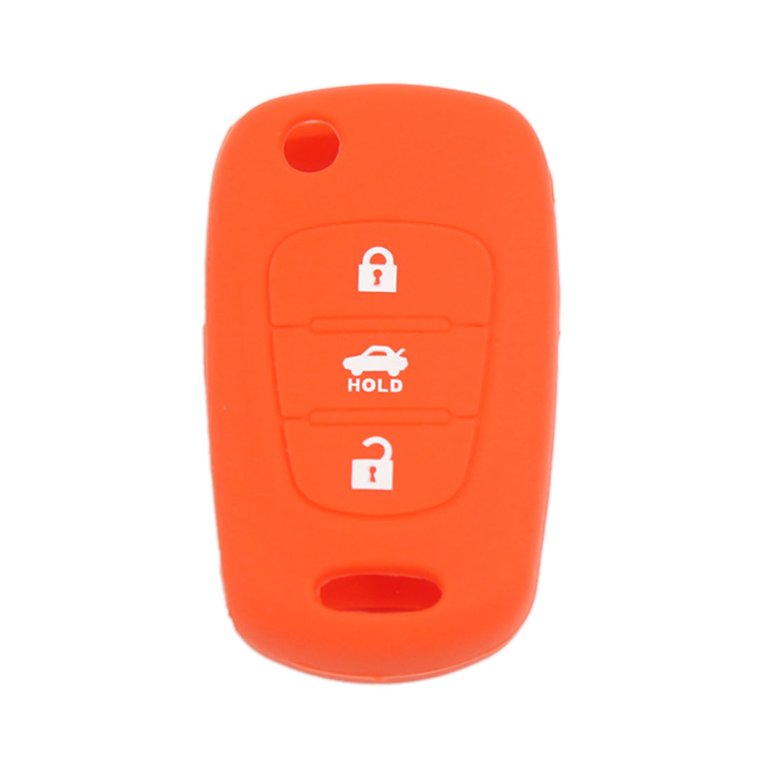 Orange Silicone Cover Holder Remote Key Case Fob 3 Buttons for Hyundai Kia K2 K5