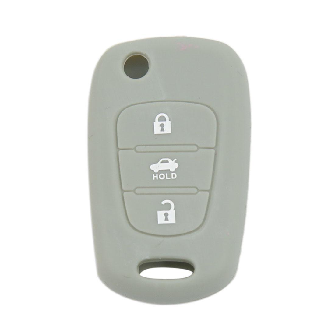 Black Silicone Keyless Remote Key Fob Case Skin Cover for Hyundai Kia K2 K5