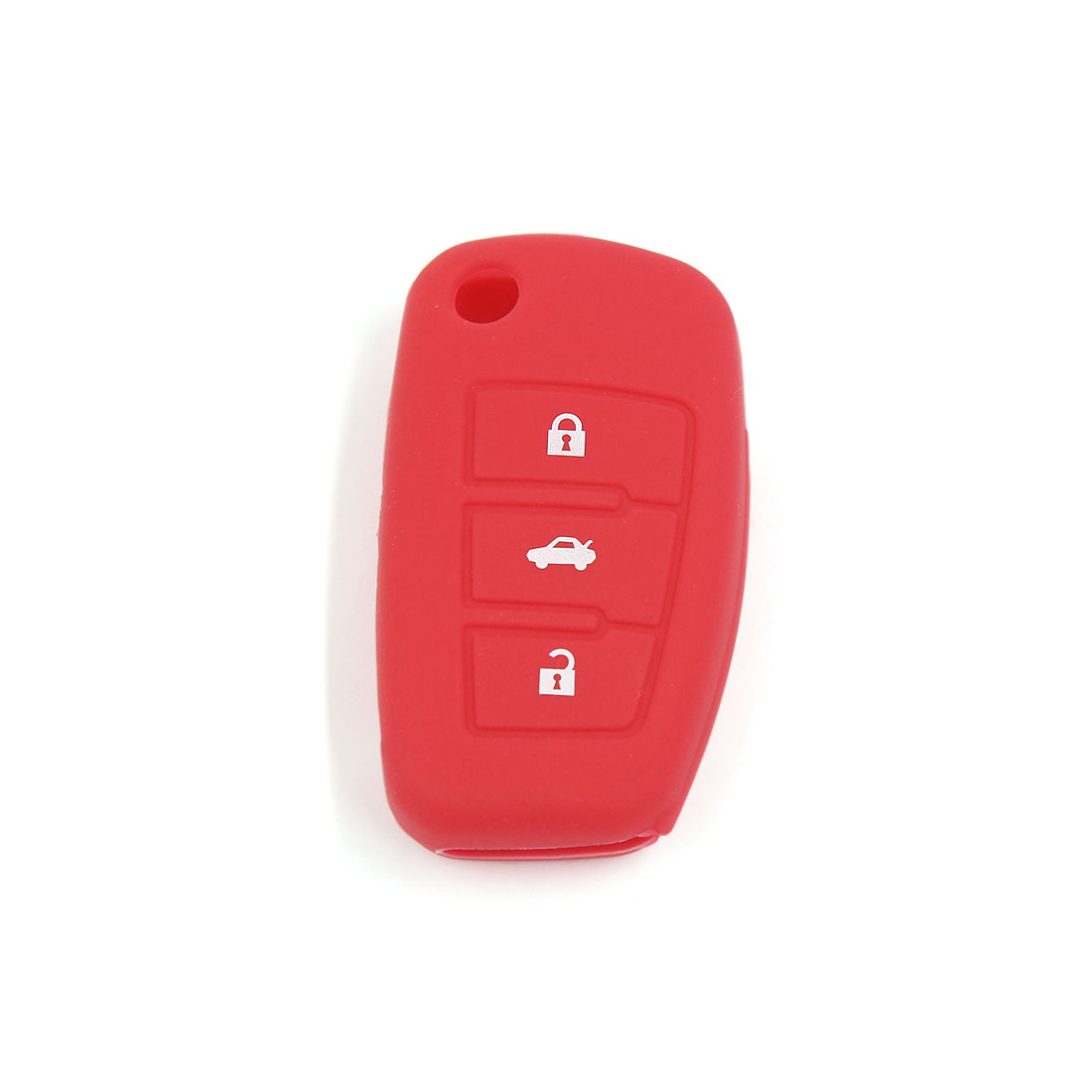 Red Silicone Car Remote Fob Key Cover 3 Button for Audi A6L Q7 TT R8 A3 A4L 2009
