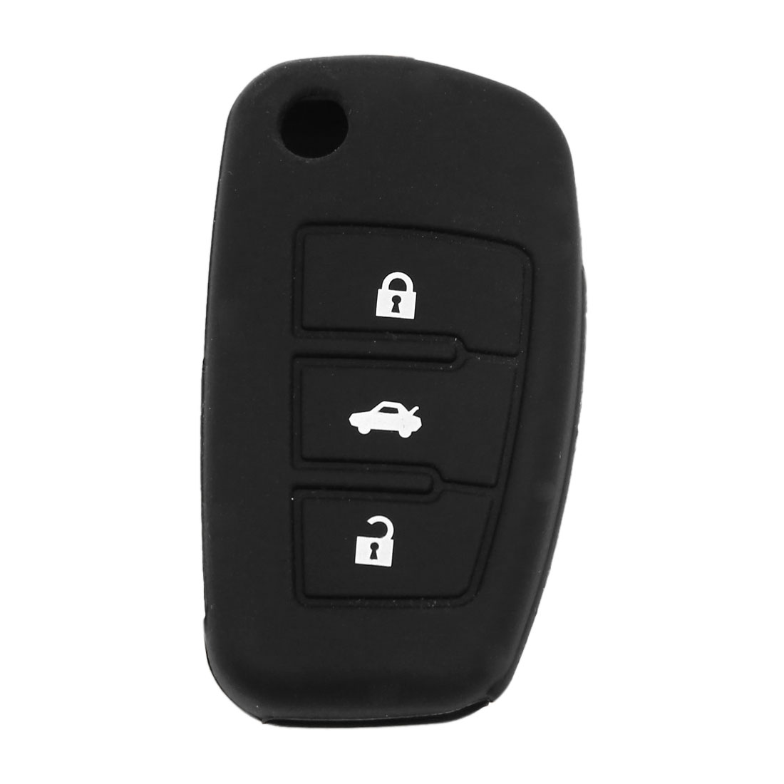 Black Silicone Remote Fob Key Cover 3 Buttons for Audi A6L Q7 TT R8 A3 A4L 2009