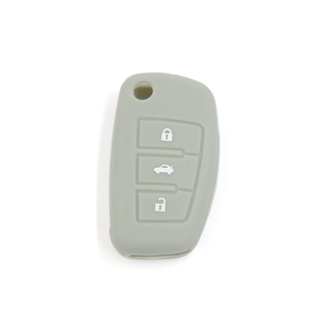 Gray Silicone Remote Fob Key Cover 3 Button for Audi A6L Q7 TT R8 A3 A4L 2009