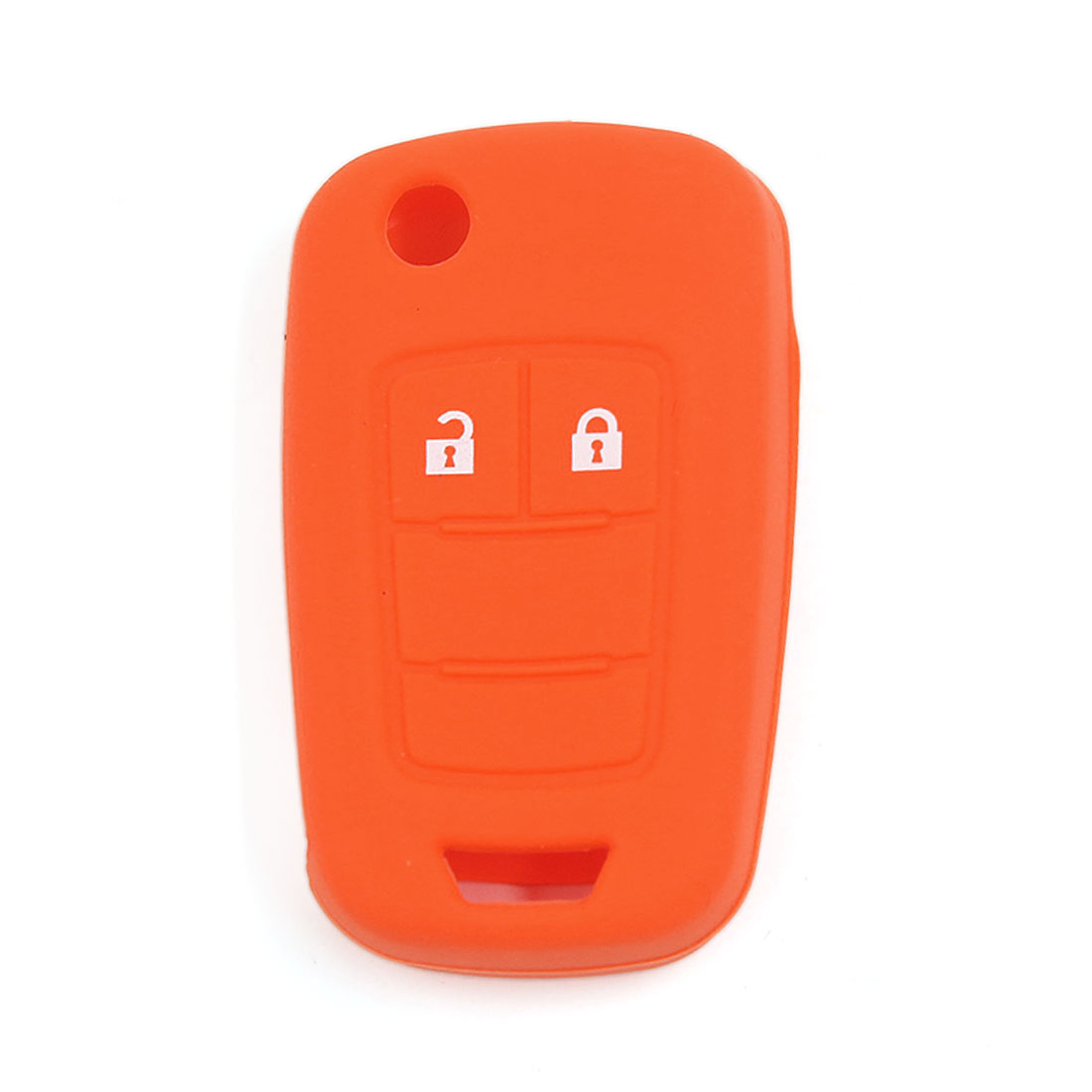 Orange 2 Button Silicone Key Case Holder Fob Protector Cover for Vauxhall Opel