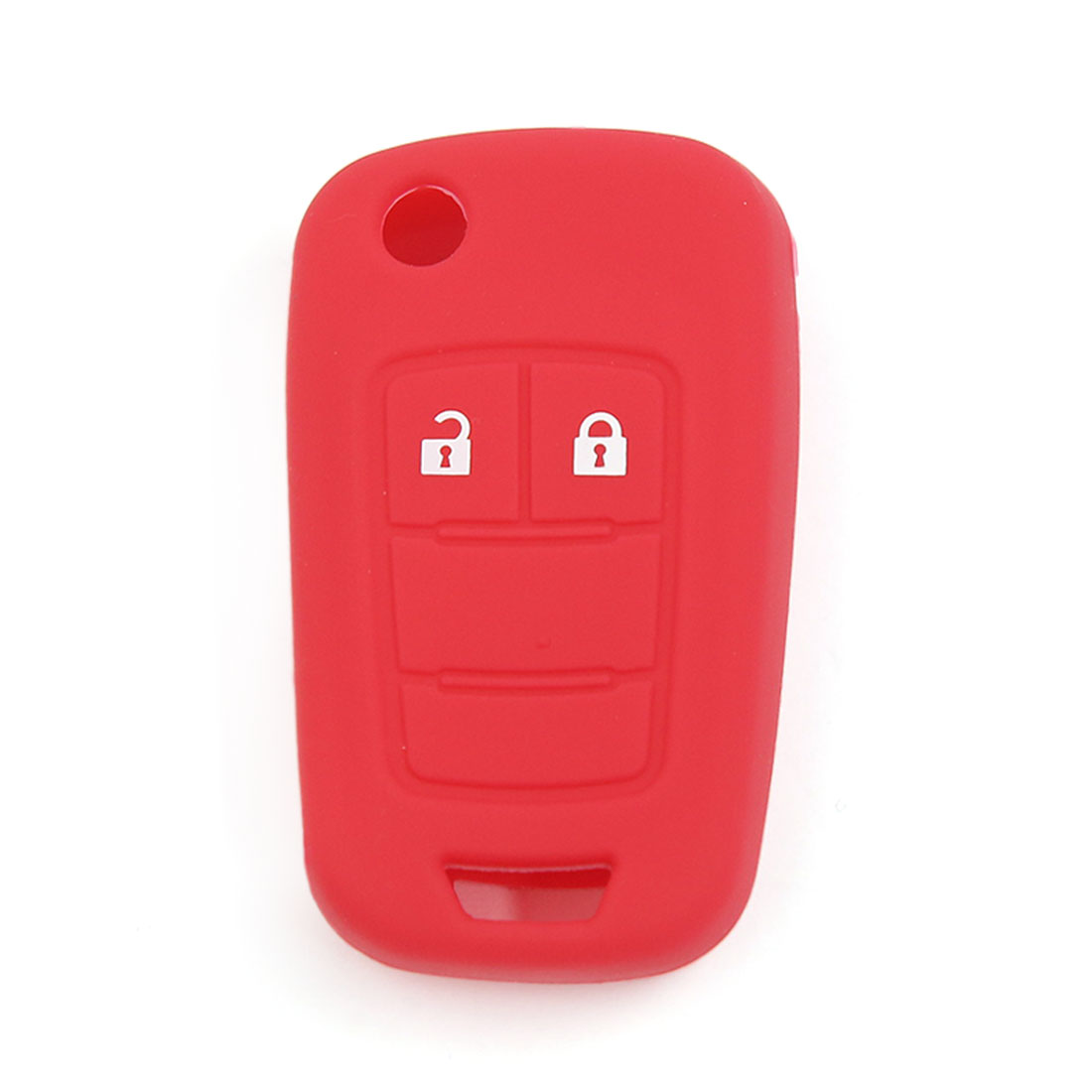 Red Silicone Keyless Remote Key Fob Case Skin Cover for Vauxhall Opel 2 Buttons