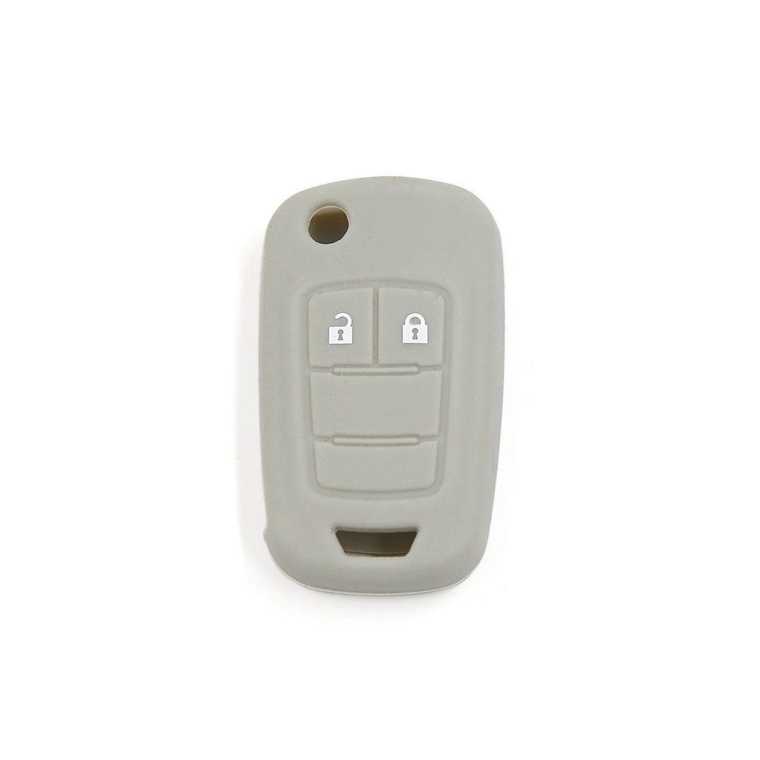 Gray Silicone Keyless Remote Key Fob Case Skin Cover for Vauxhall Opel 2 Button