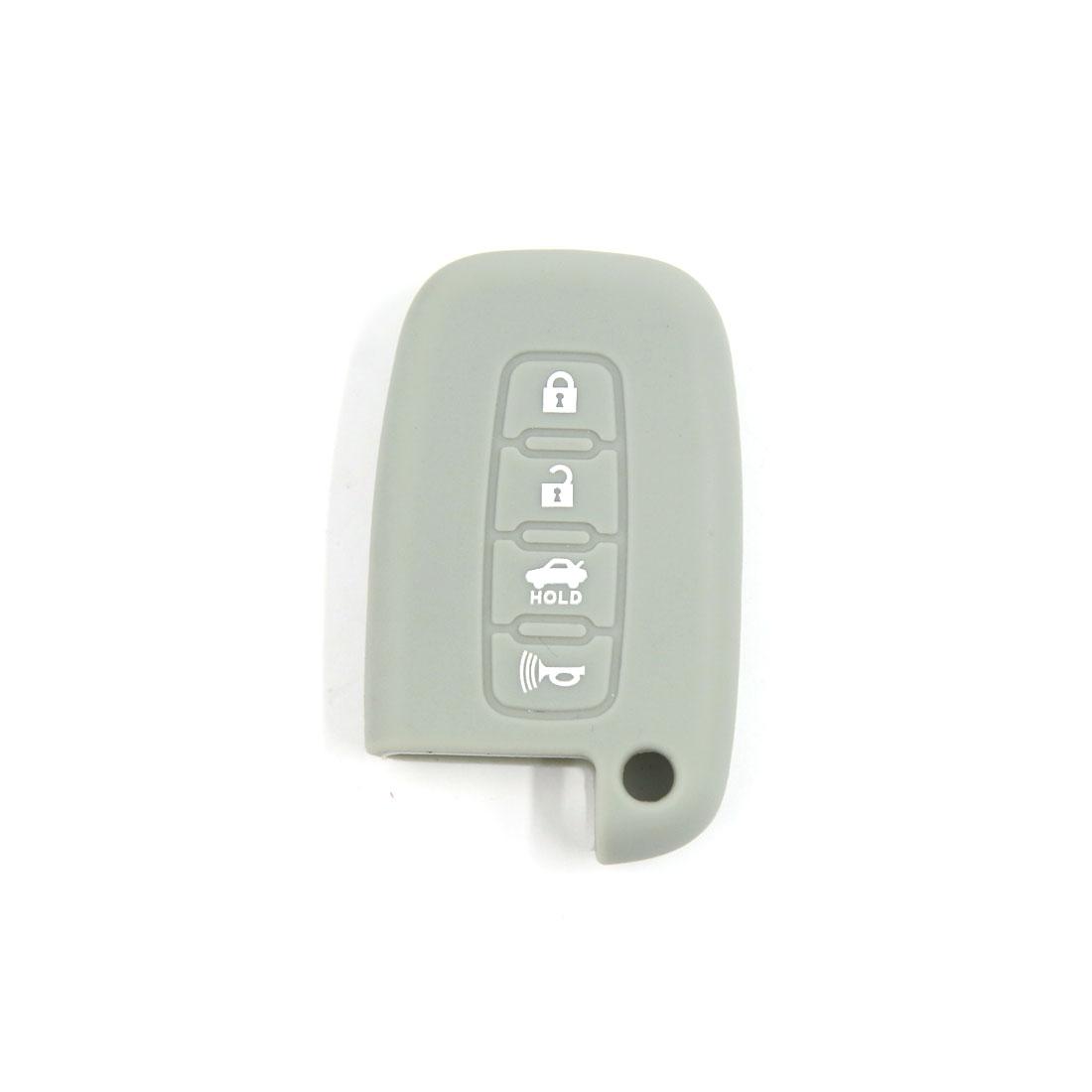 Gray Silicone Smart Key Case Cover Fob for Hyundai Sonata Genesis Elantra 4 BT