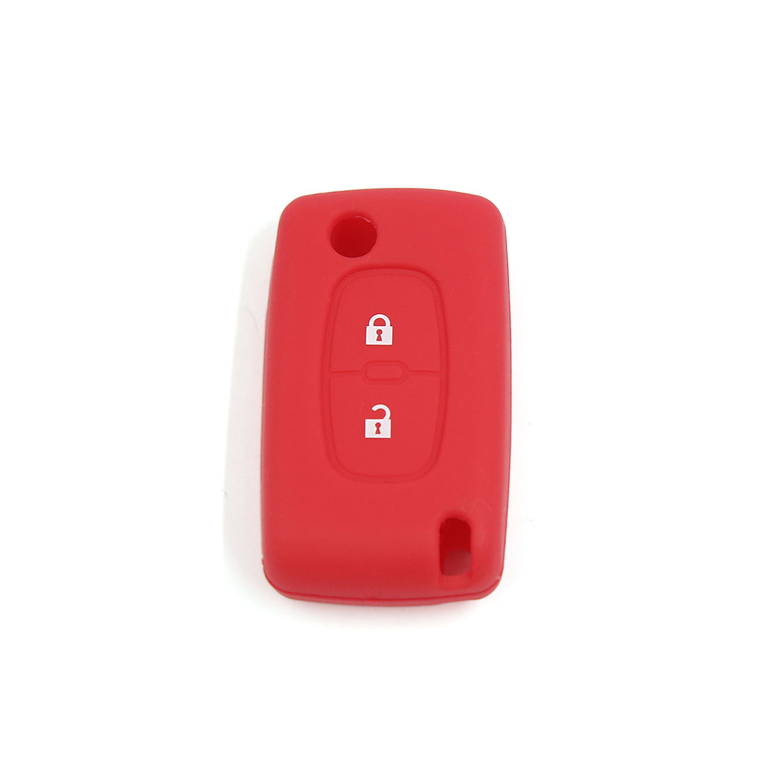 Red Silicone Case Cover Protecting Bag Fit for Peugeot Flip Key 2 Buttons