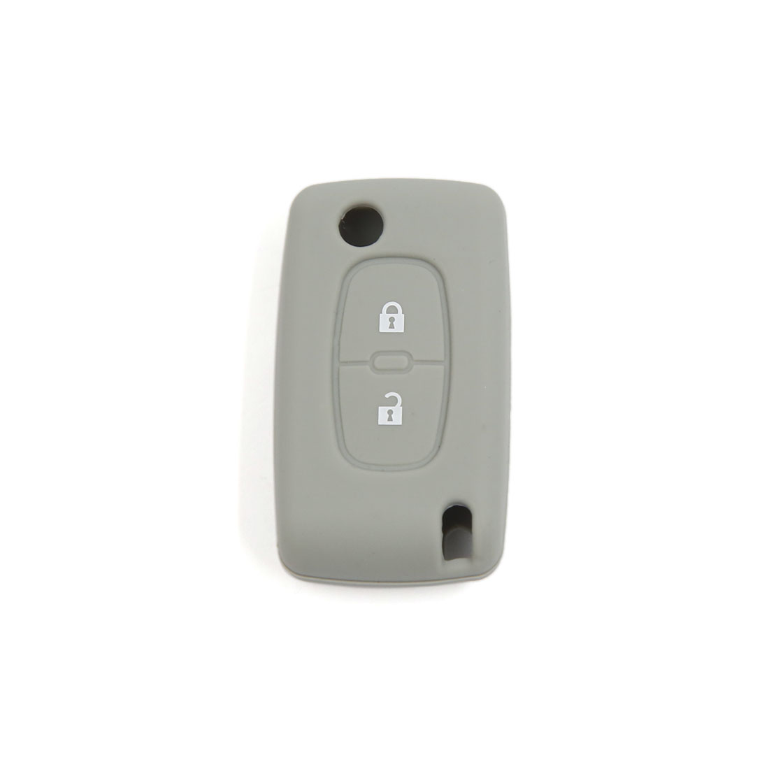 Gray Soft Silicone Protective Cover Remote Key Case Fob for Peugeot 2 Buttons