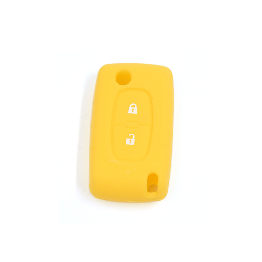 Yellow Silicone Case Cover Protecting Bag Fit for Peugeot Flip Key 2 Buttons