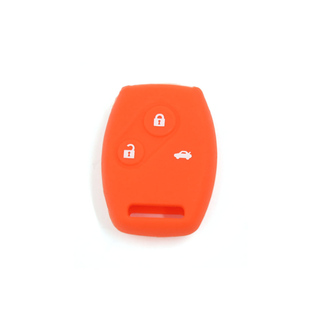 Orange Silicone Keyless Remote Key Fob Case Skin Cover fit for Honda 3 Button