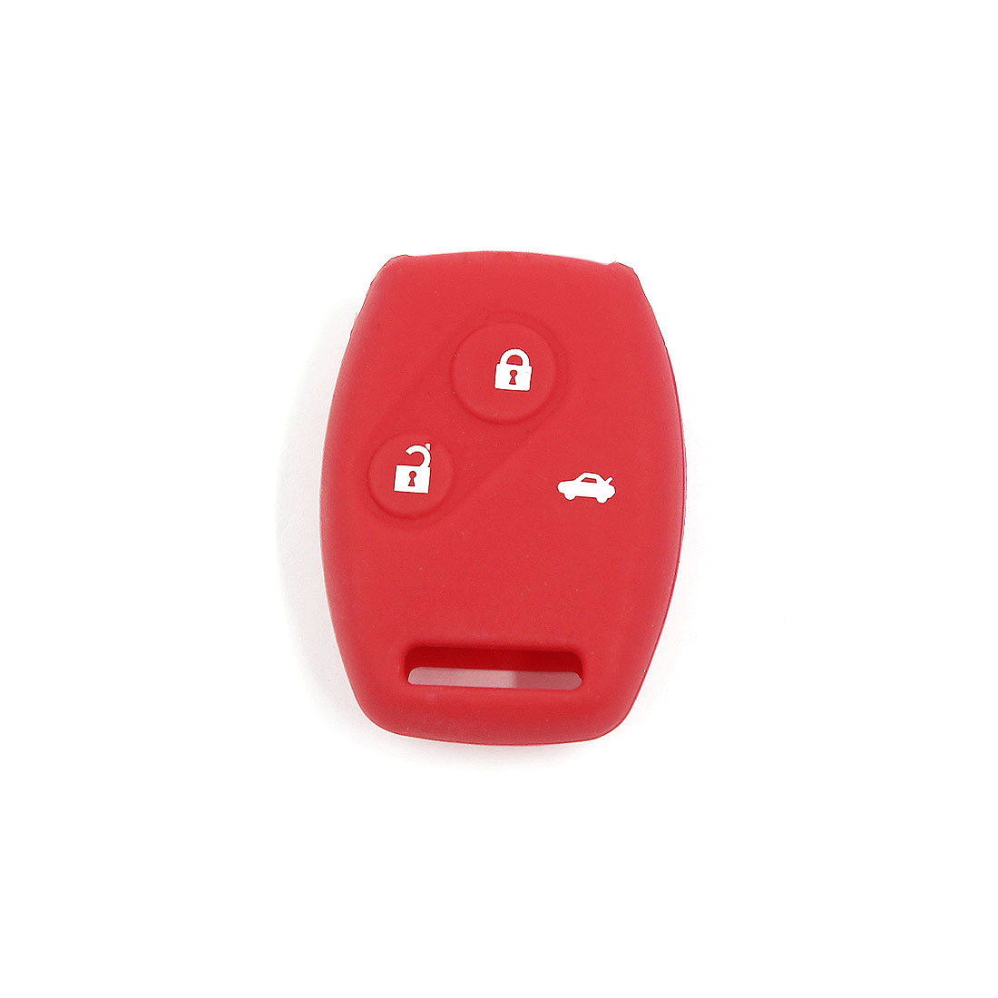 Red Car Silicone Remote Fob Key Case Cover for Honda Accord Civic Pilot 3 Button