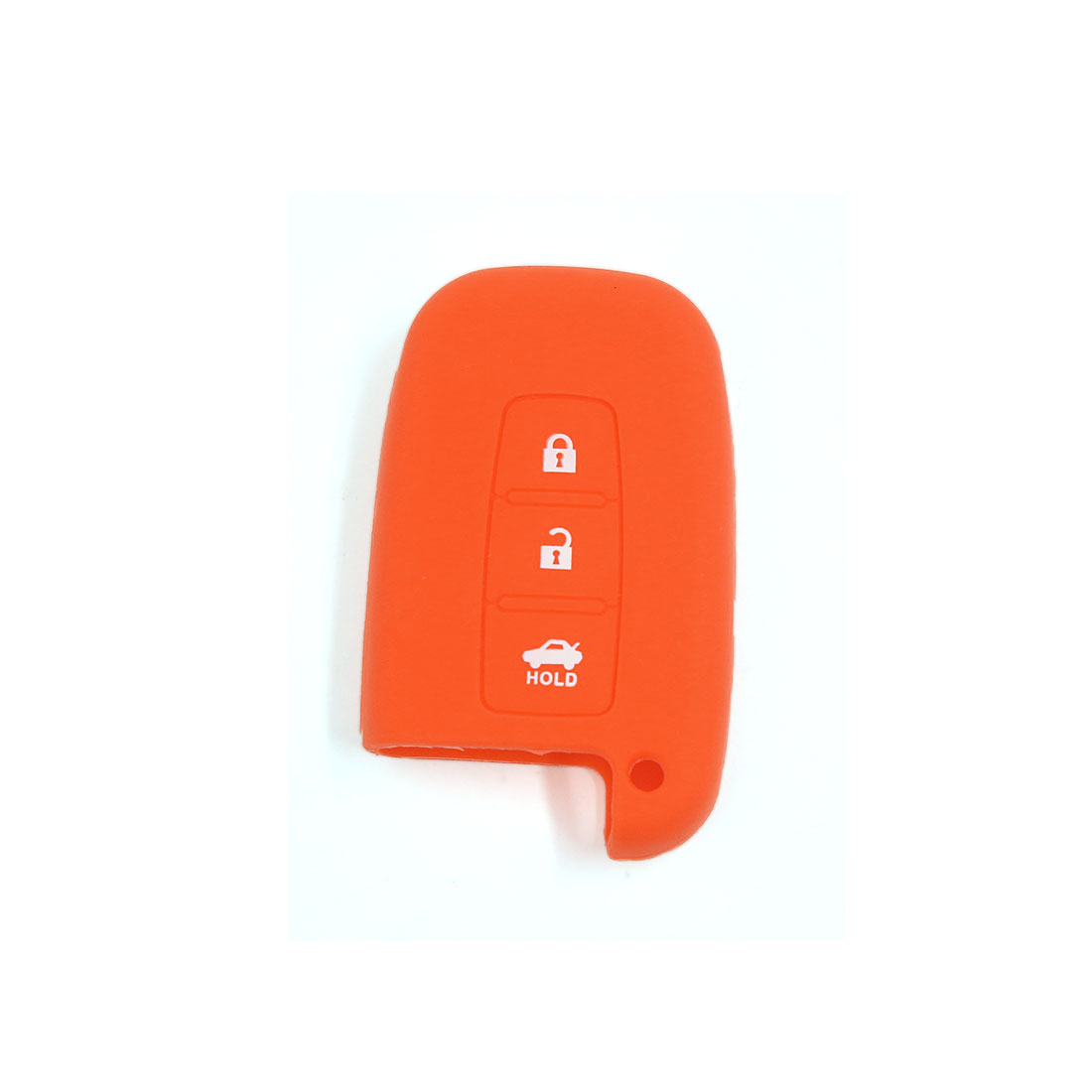 Orange Soft Silicone Remote Key Fob Case Cover Jacket Skin for Hyundai 3 Buttons