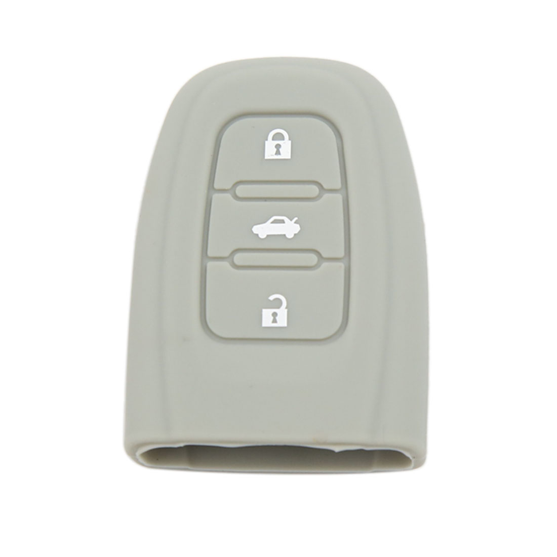 Gray 3 Buttons Key Fob Cover Jacket Silicon Protection for Audi A4L S4 S5 Q5 3BT