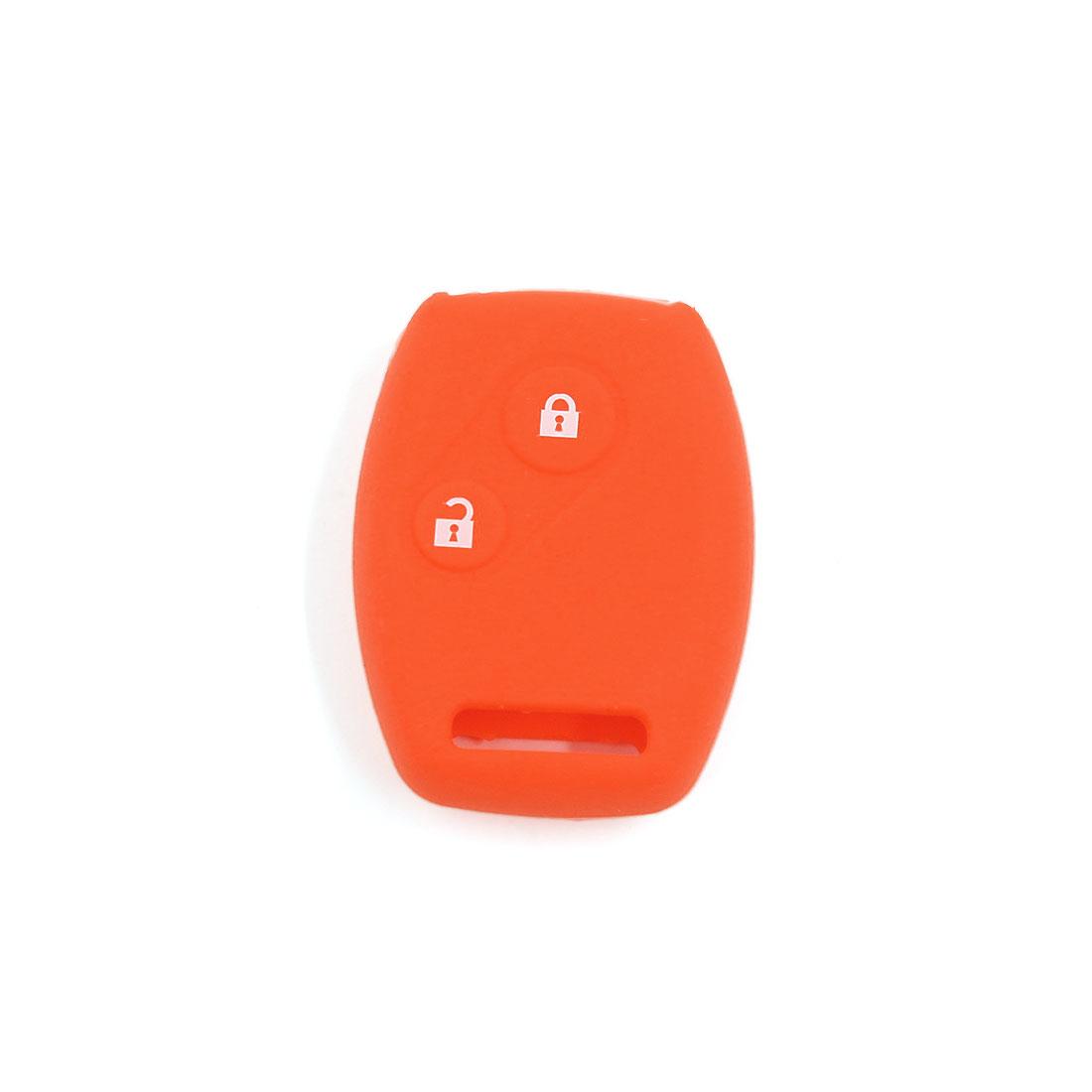 Orange Key Cover Car Silicone Skin Fob Shell for Honda Civic Accord CR-V 2BT
