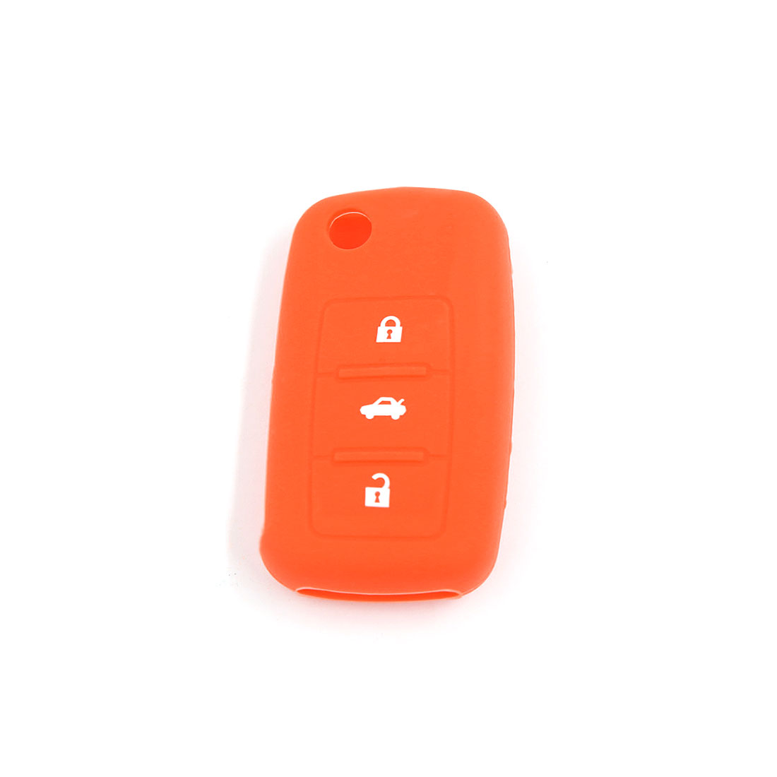 Orange Silicone Remote Flip Key Fob Case Skin Cover 3 Buttons for VW Seat Skoda