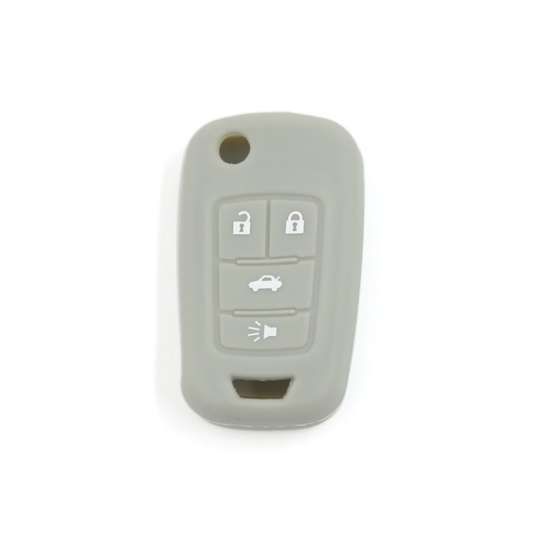 Gray Silicone Keyless Remote Key Fob Case Skin Cover fit for Opel Astra 4 Button
