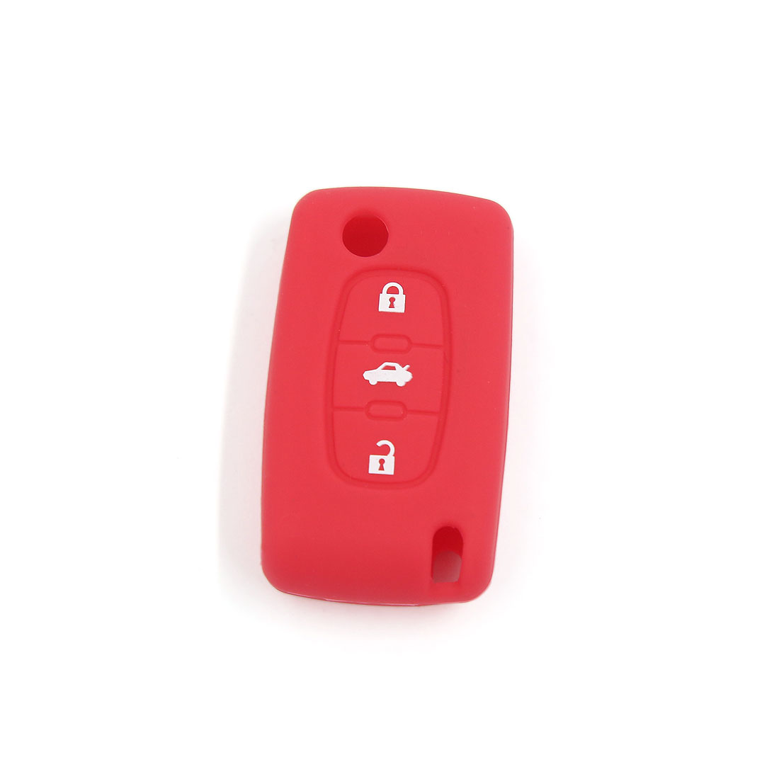 Red Silicone Case Key Fob Cover 3 Button Fit For Peugeot 407 307 107 207 607