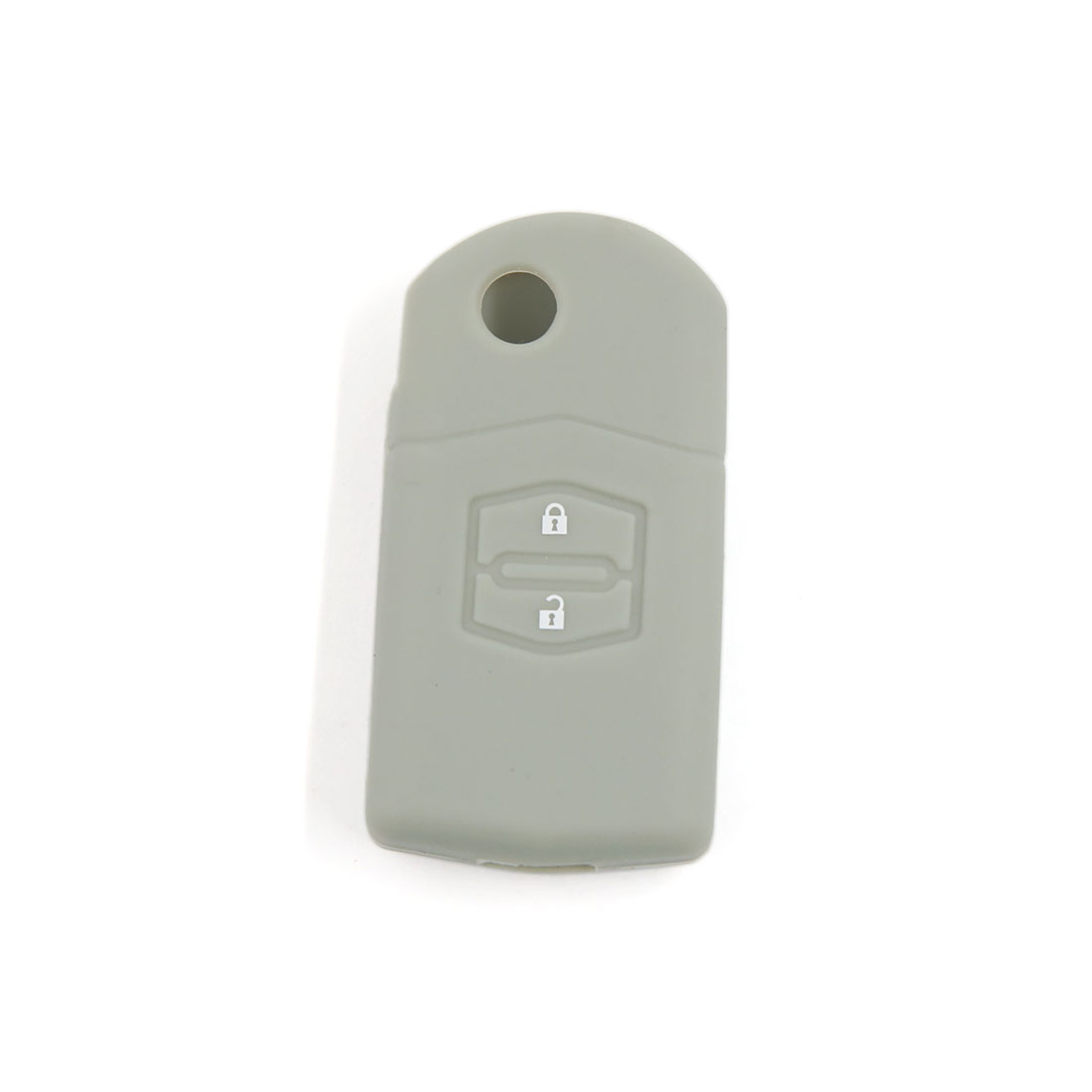 Gray Silicone Remote Flip Key Shell Case Cover Holder for Mazda 3 5 6 2BT
