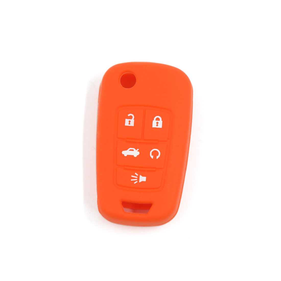 Orange Silicone Cover Case Fit for Buick Lacrosse Regal Remote Key 5 Buttons