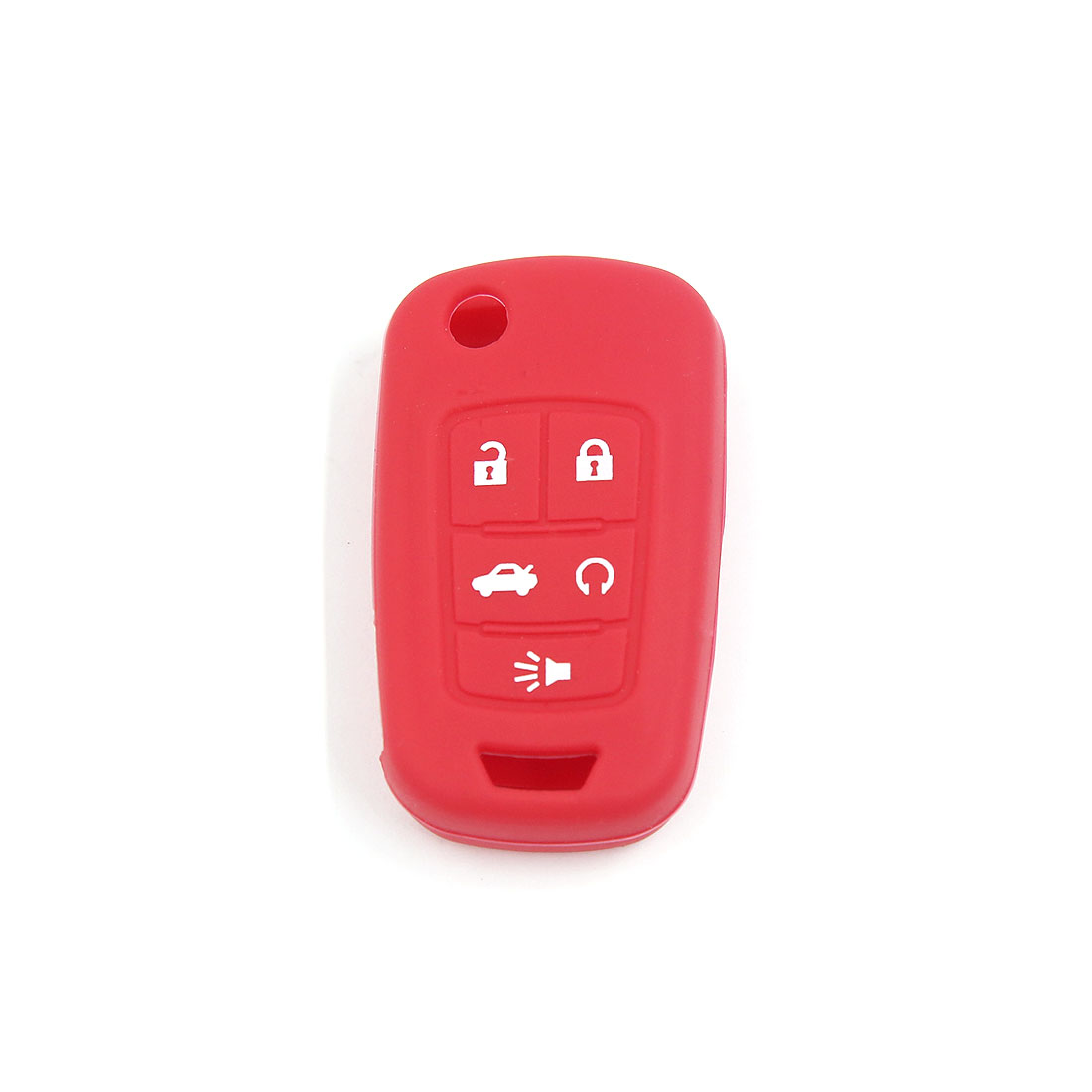 Red Silicone Keyless Remote Key Fob Case Skin Fit for Buick Lacrosse Regal 3BT