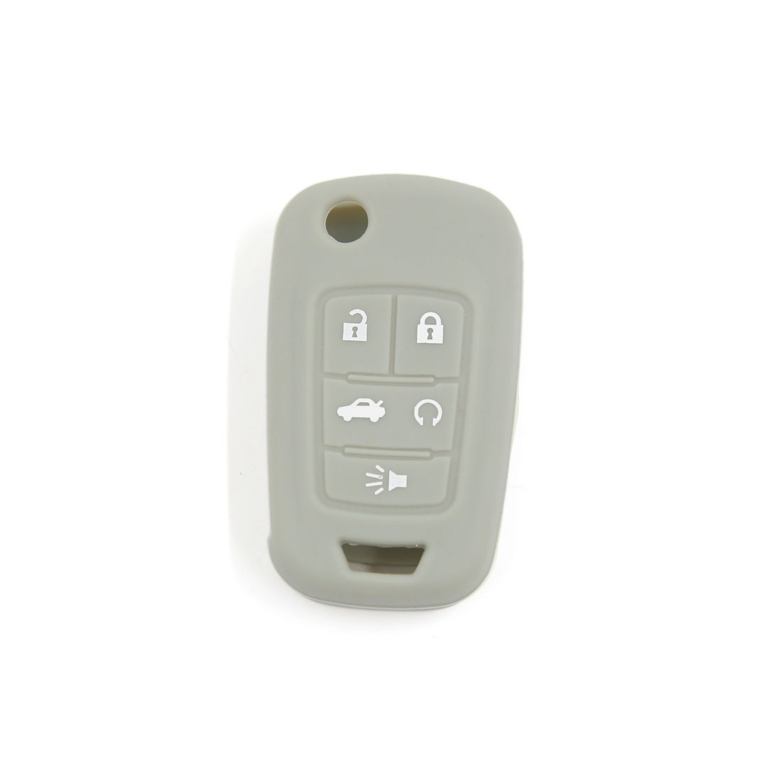 Gray Remote Fob Key Case Shell Silicone Cover for Buick Lacrosse Regal 5 Buttons