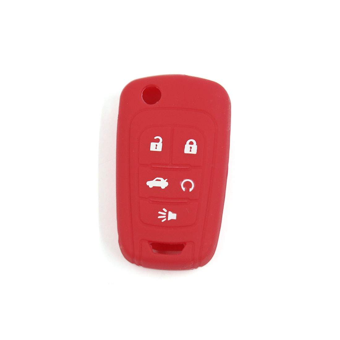 Red Silicone Cover Holder Jacket Remote Key Case Shell for Chevrolet 5 Buttons